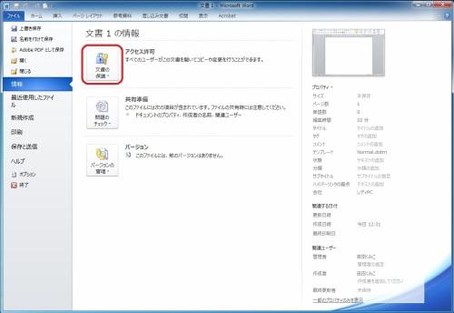 Word,Excelファイルの著作保護3