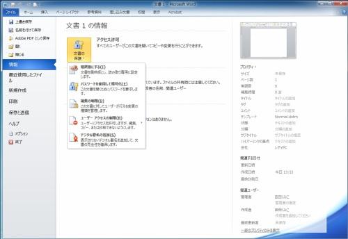 Word,Excelファイルの著作保護4